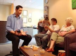 Implant Open Day 1 – Dr Pang with attendees