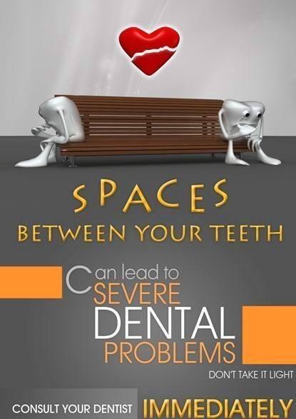 effects of spaces between teeth